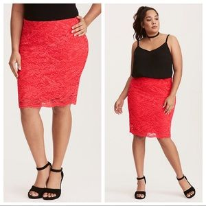 NWOT Torrid Lace Pencil Skirt